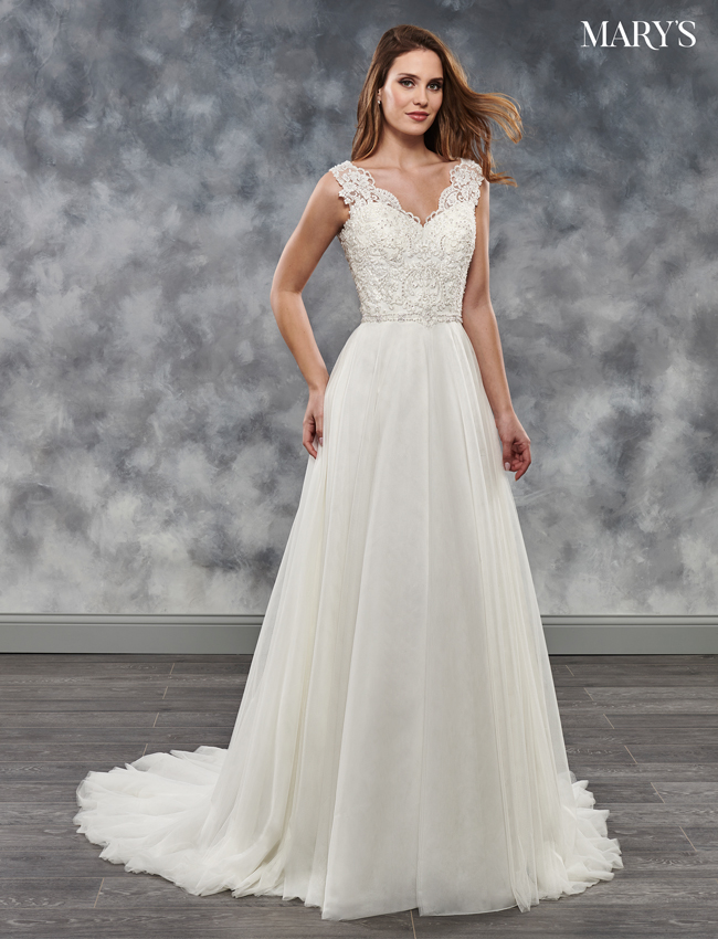 Ivory Color Bridal Dresses - Style - MB2026