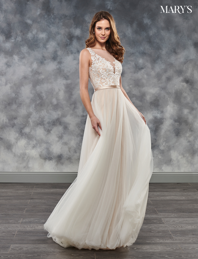 SAND Color Bridal Dresses - Style - MB2032