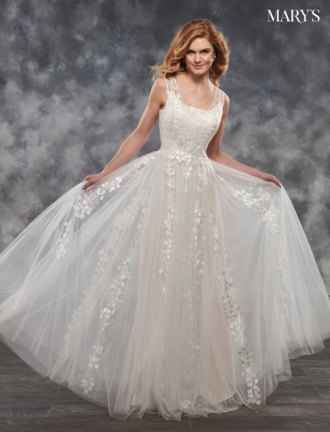 Blush Color Bridal Dresses - Style - MB2033