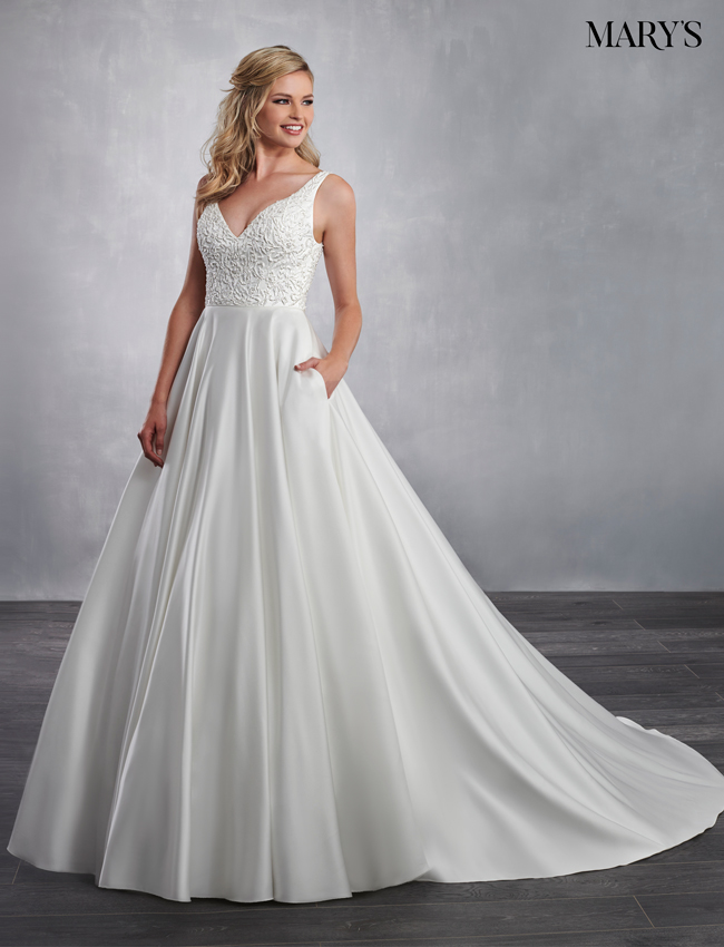 Ivory Color Bridal Dresses - Style - MB2042