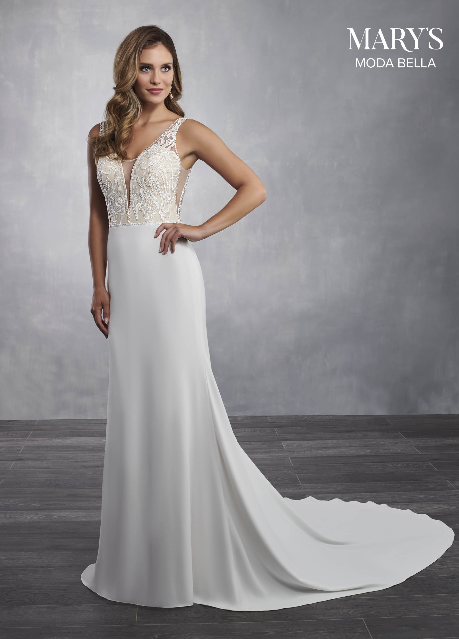 Bridal Dresses Style Mb2045 In Ivory Or White Color