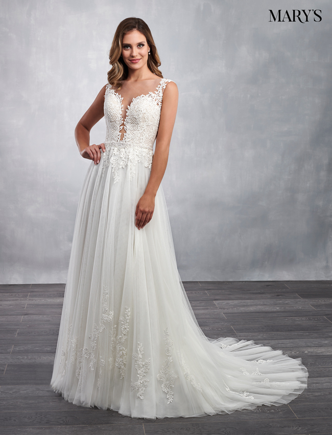 Ivory Color Bridal Dresses - Style - MB2054