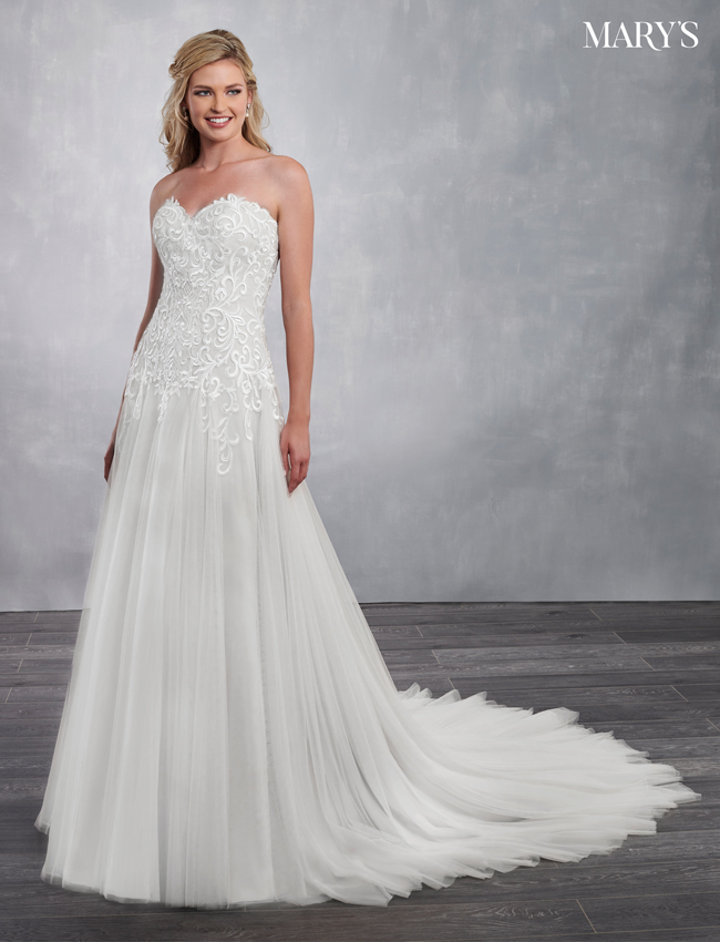 Ivory Color Bridal Dresses - Style - MB2055