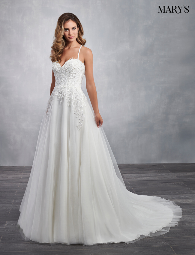 Ivory Color Bridal Dresses - Style - MB2058