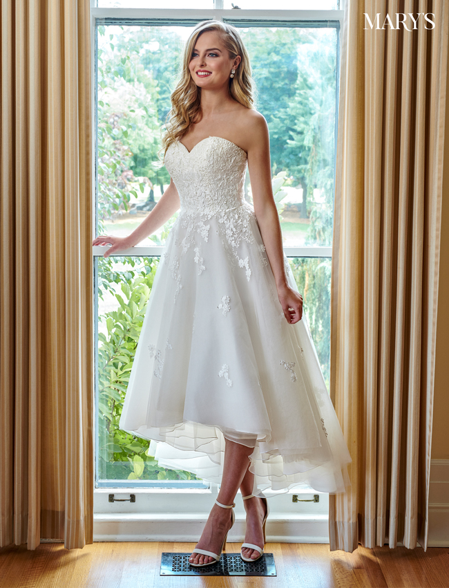 Light Blue Color Bridal Dresses - Style - MB2059