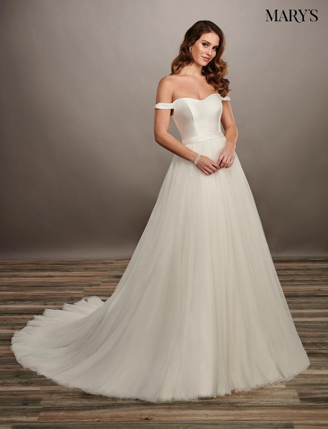 White Color Bridal Dresses - Style - MB2073