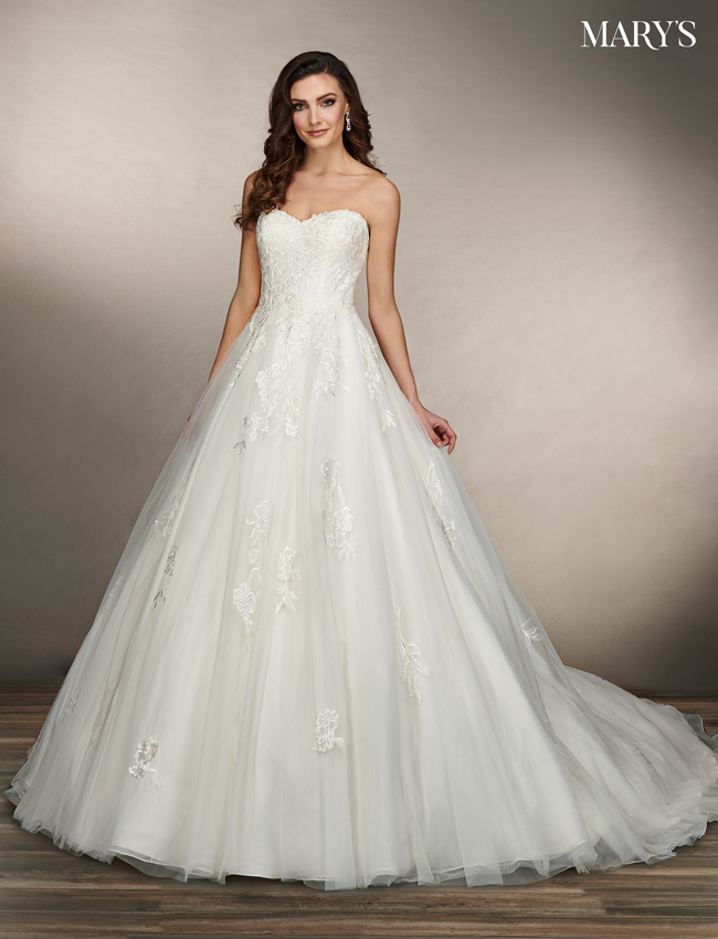 Ivory Color Bridal Dresses - Style - MB2076