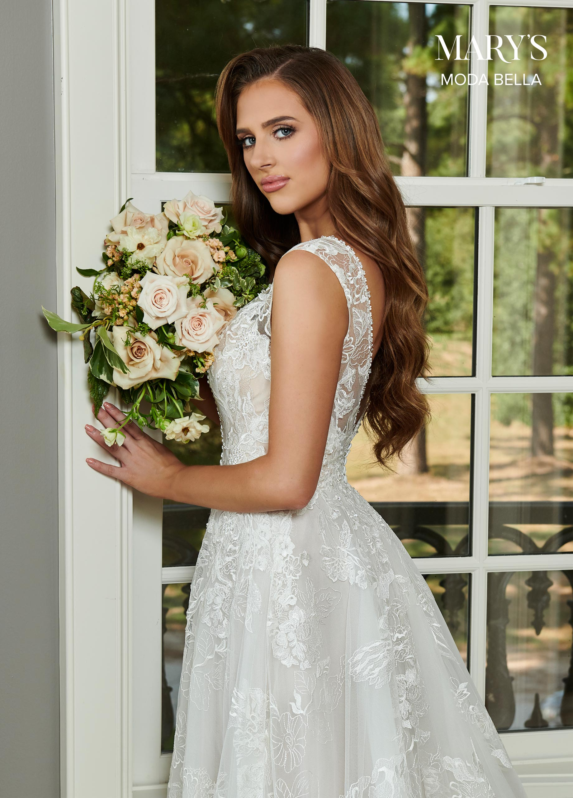 Bridal Dresses | Style - MB2095 in Ivory/Nude, Ivory, White Color