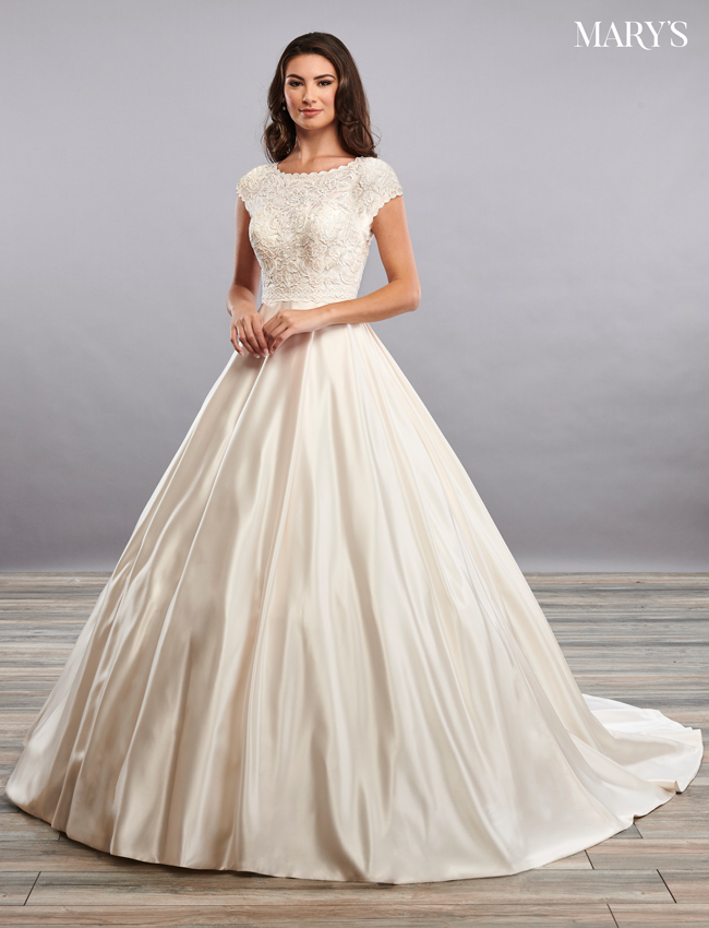 Ivory Color Bridal Dresses - Style - MB2097