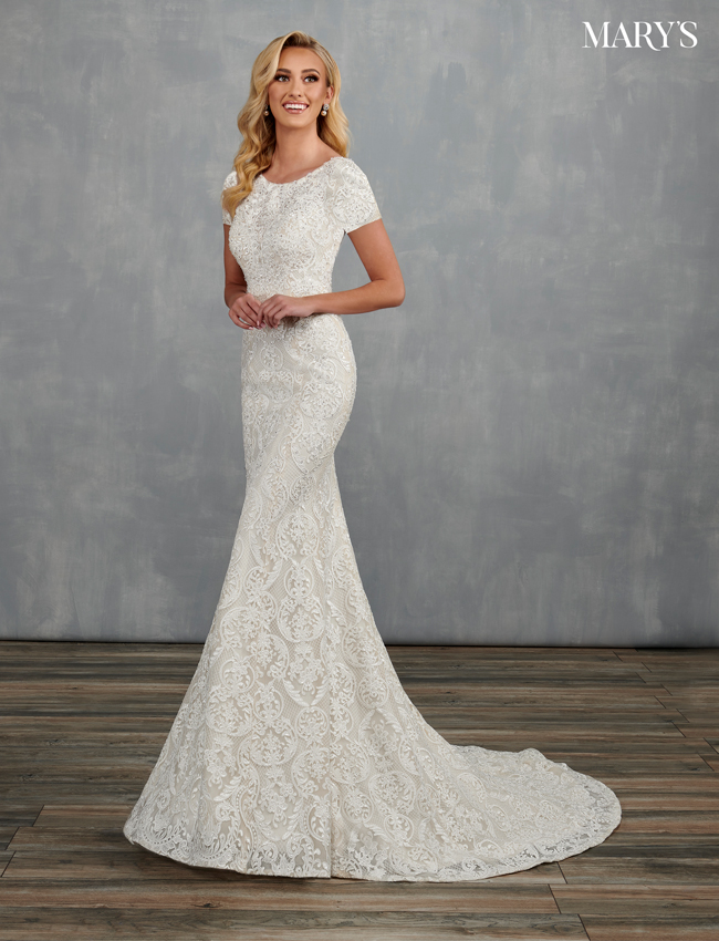Ivory Color Bridal Dresses - Style - MB2104