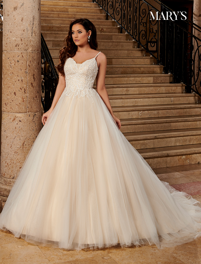 Champagne Color Bridal Dresses - Style - MB2113