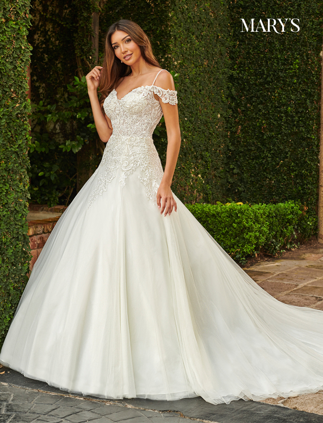 Ivory Color Bridal Dresses - Style - MB2116