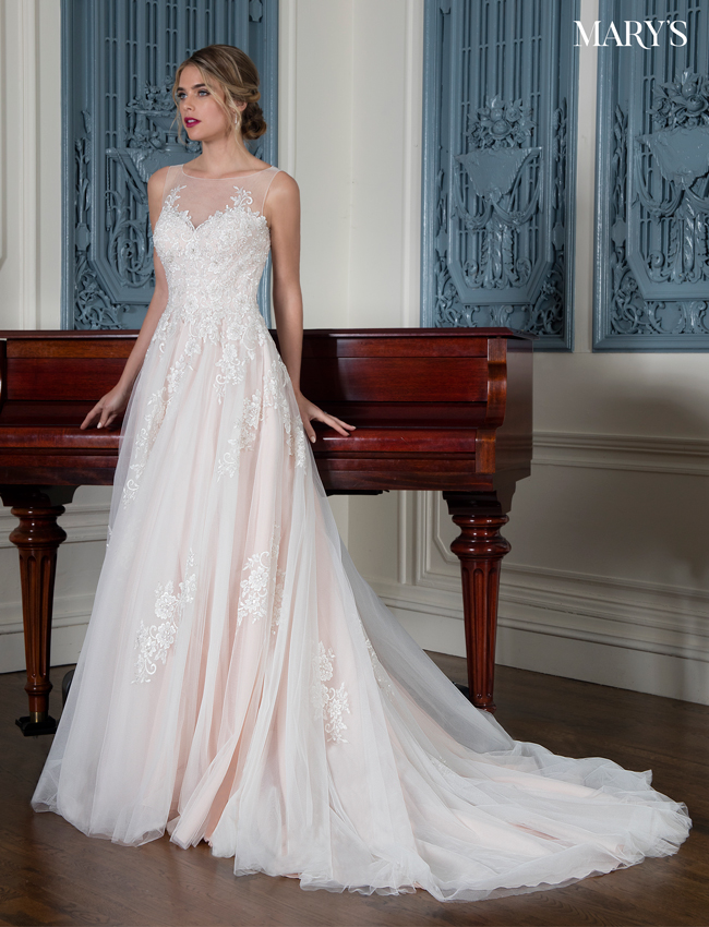 Color Bridal Wedding Dresses - Style - MB3005