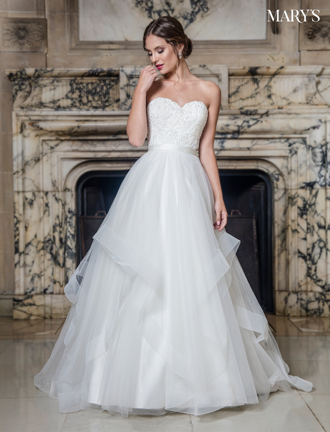 Color Bridal Wedding Dresses - Style - MB3010