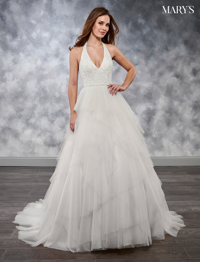 Ivory Color Bridal Wedding Dresses - Style - MB3025