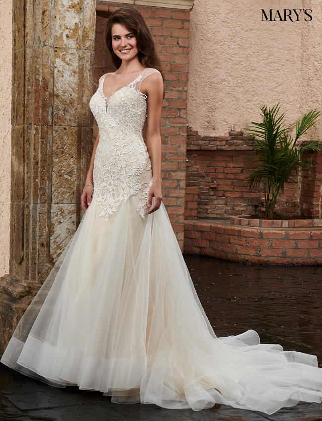 Champagne Color Bridal Wedding Dresses - Style - MB3032