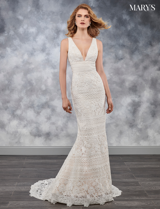Ivory Color Bridal Wedding Dresses - Style - MB3036