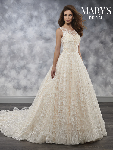 Ivory Color Bridal Wedding Dresses - Style - MB3037