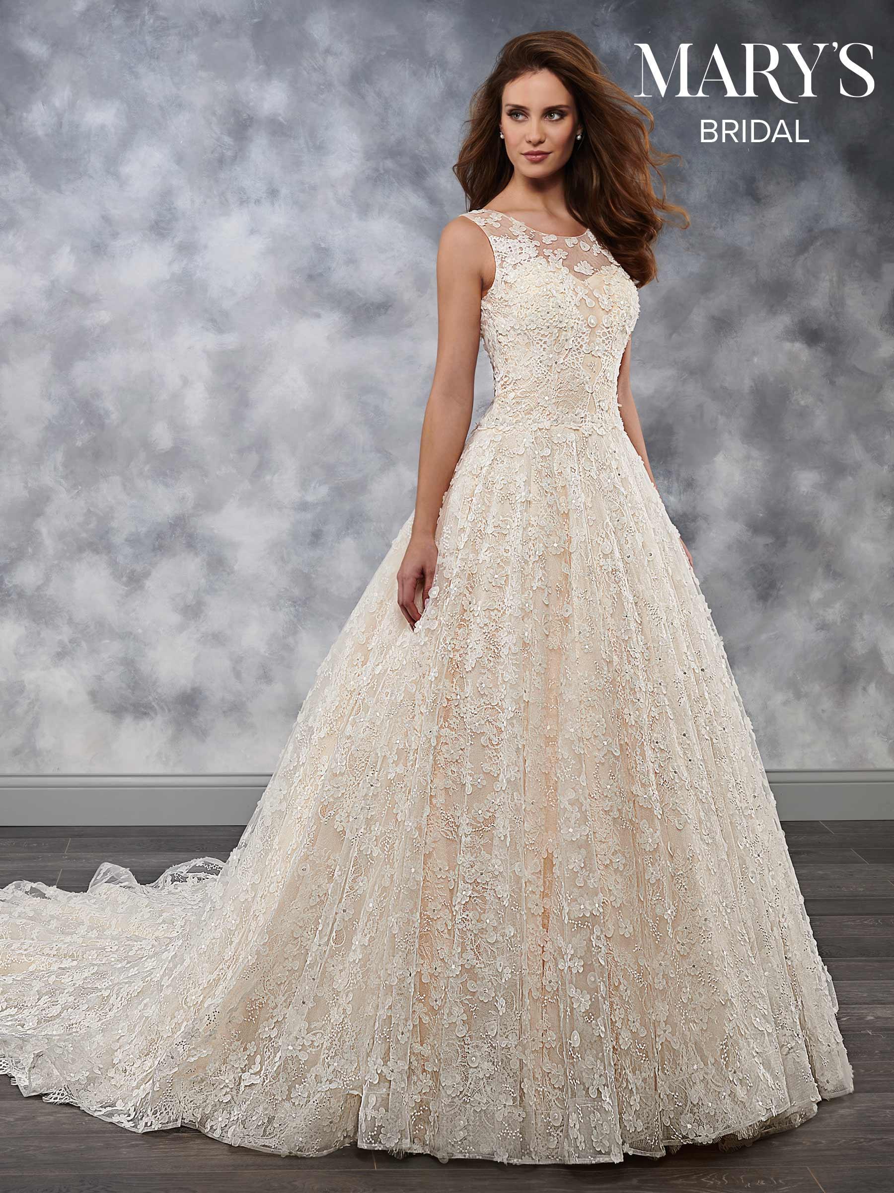 Bridal Wedding Dresses | Style - MB3037 in Ivory/Blush or White ...
