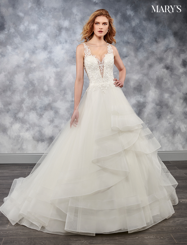 Ivory Color Bridal Wedding Dresses - Style - MB3042