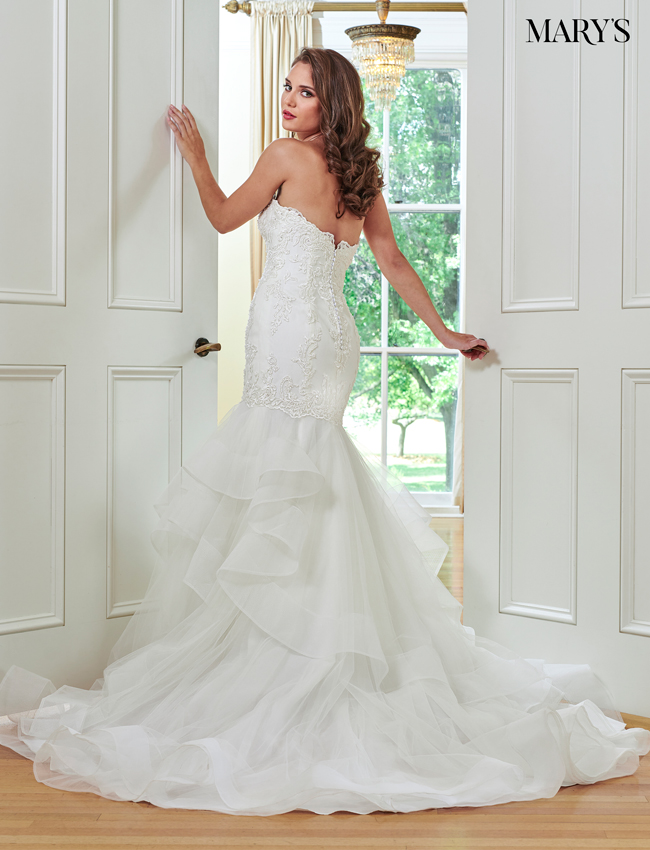 Ivory Color Bridal Wedding Dresses - Style - MB3046