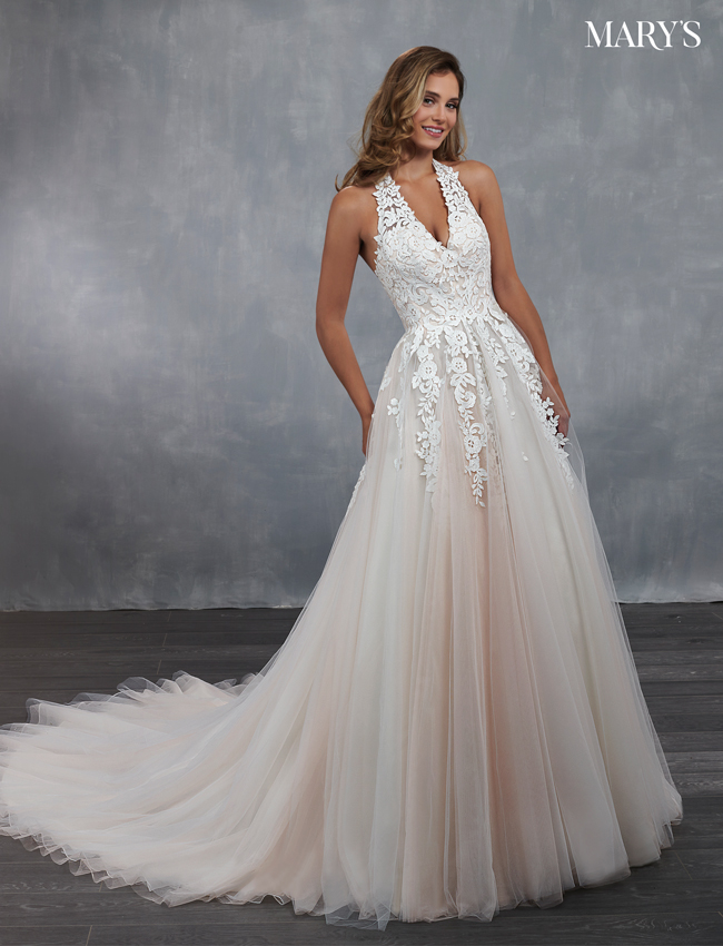 Blush Color Bridal Wedding Dresses - Style - MB3047