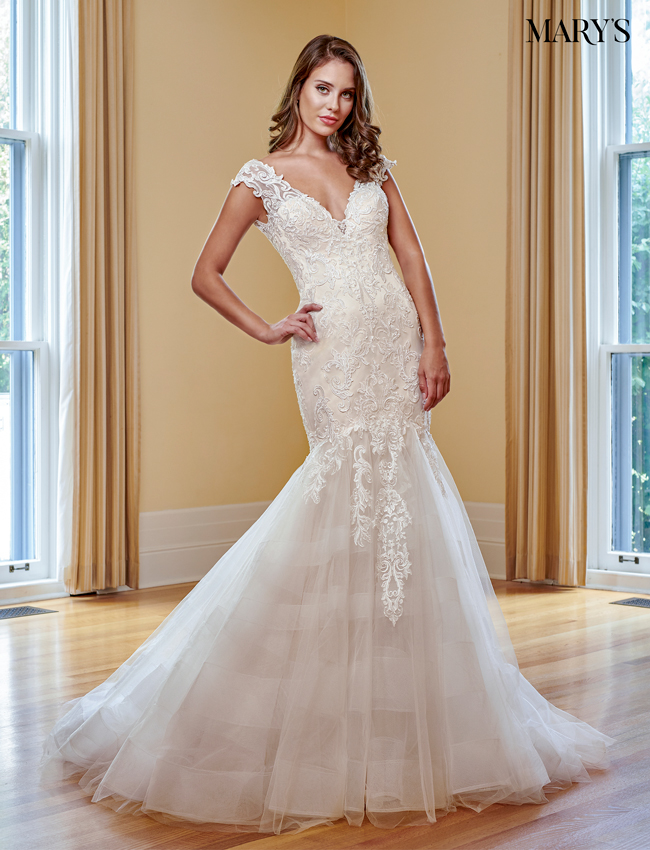 Champagne Color Bridal Wedding Dresses - Style - MB3048
