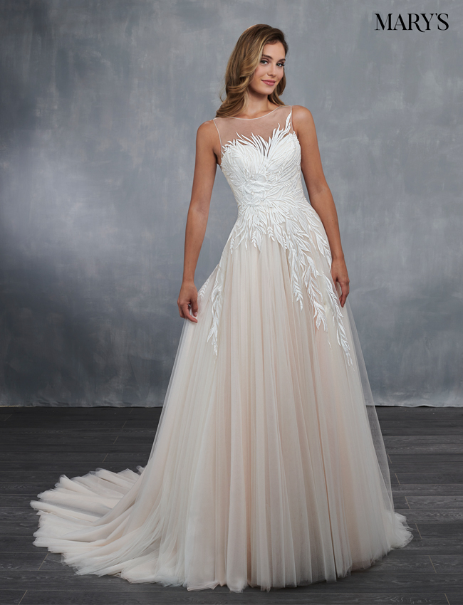 Blush Color Bridal Wedding Dresses - Style - MB3050