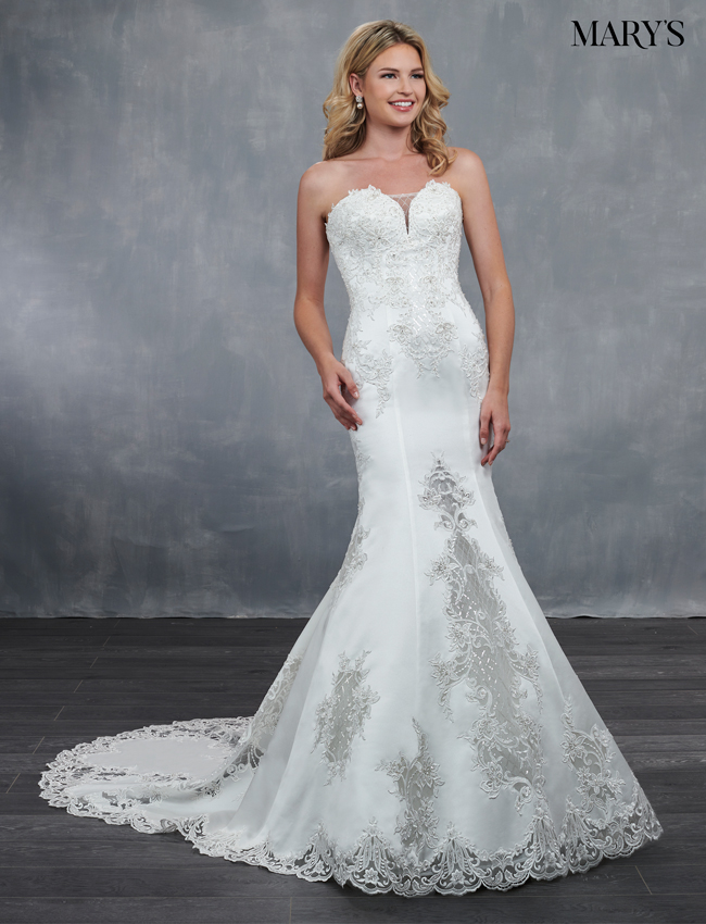 Ivory Color Bridal Wedding Dresses - Style - MB3053