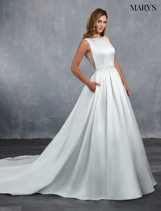 Ivory Color Bridal Wedding Dresses - Style - MB3054