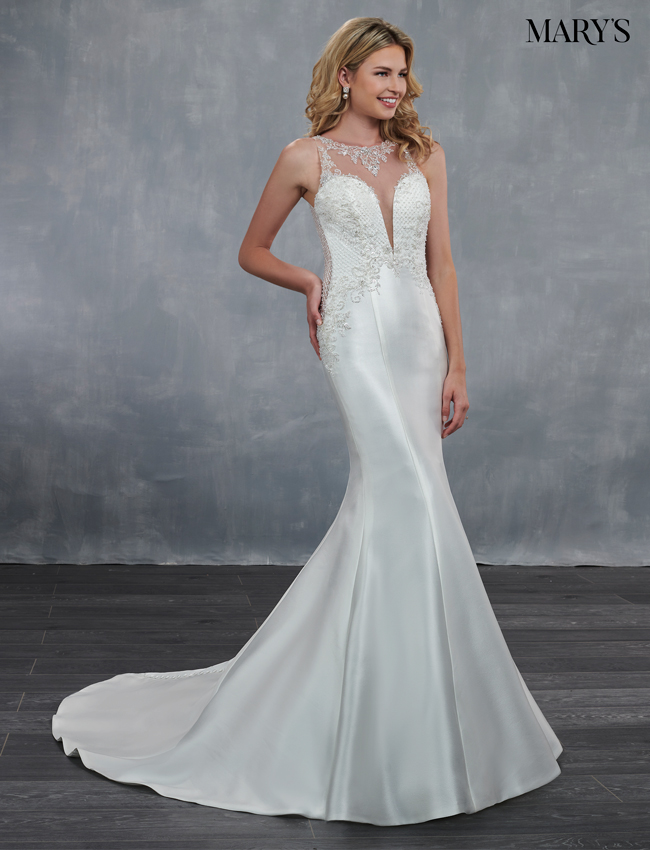 Ivory Color Bridal Wedding Dresses - Style - MB3055