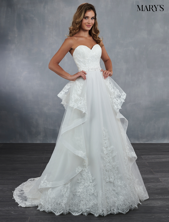 Ivory Color Bridal Wedding Dresses - Style - MB3056