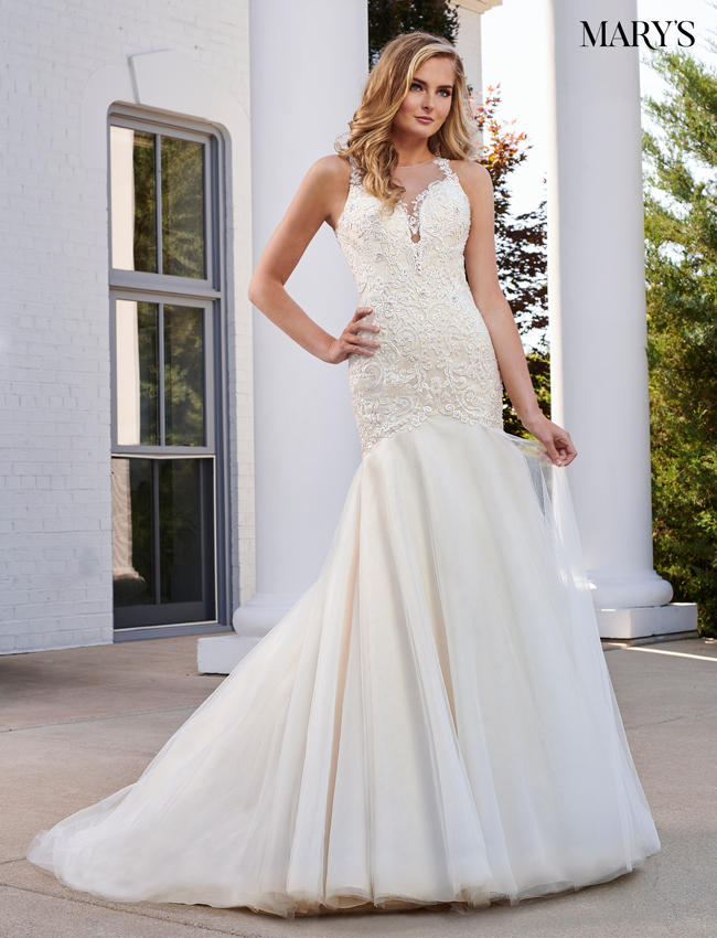 Rum-pink Color Bridal Wedding Dresses - Style - MB3058