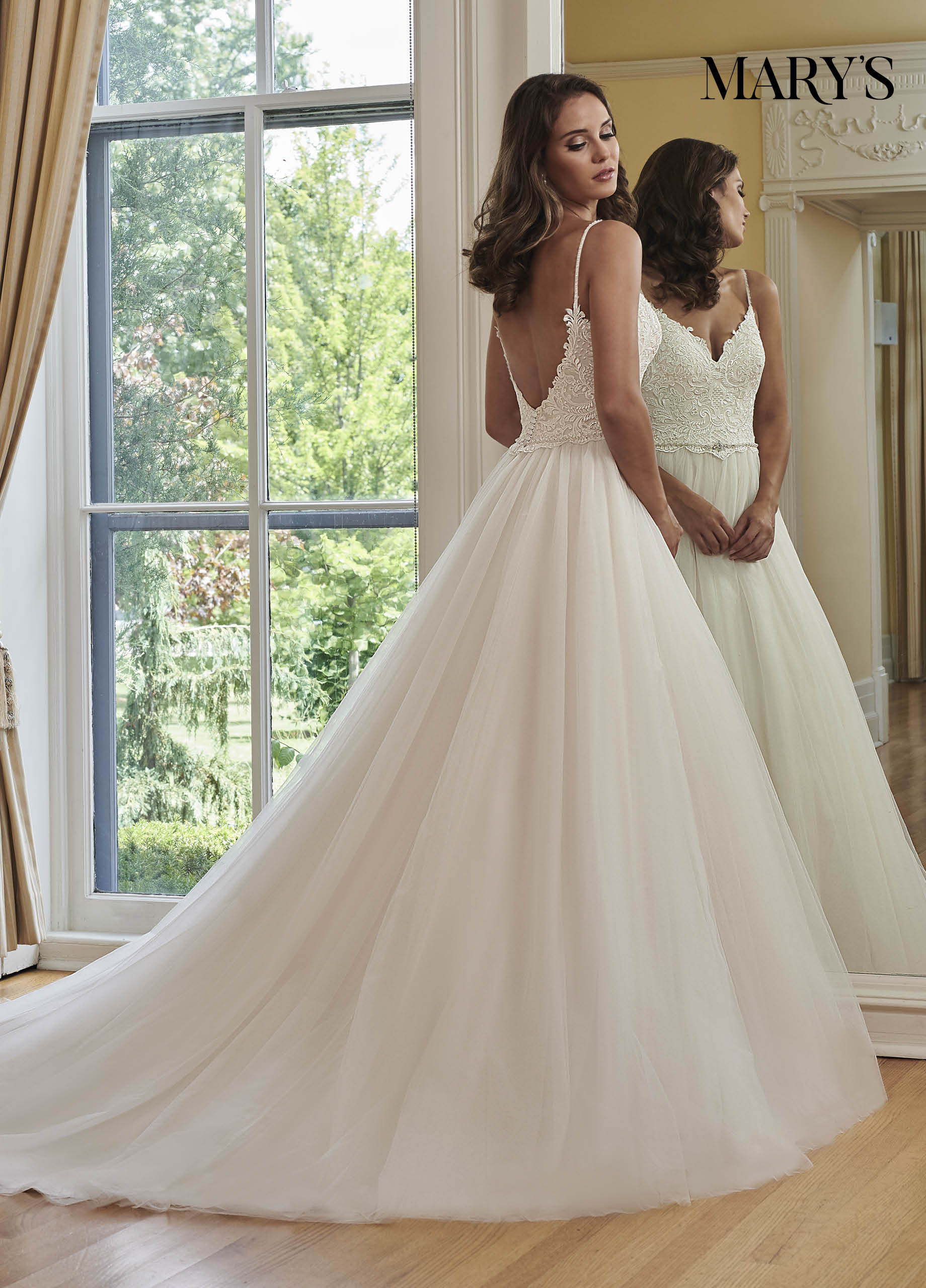 Bridal Wedding Dresses Mary's Style Mb3059: Natural Colored Wedding Dress At Websimilar.org