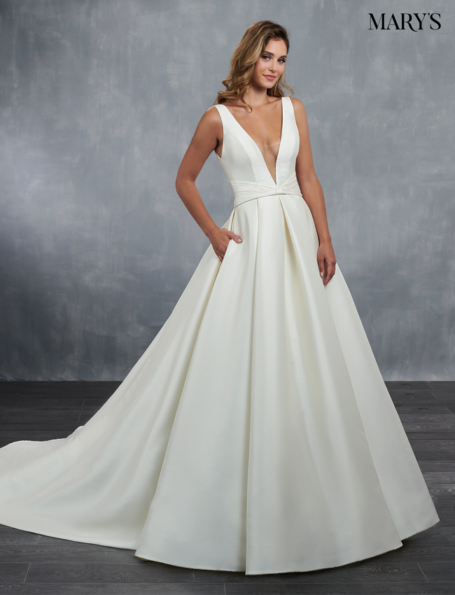 Ivory Color Bridal Wedding Dresses - Style - MB3060