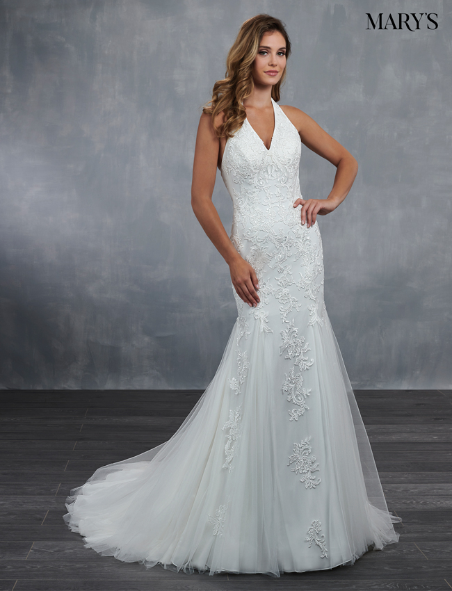 Ivory Color Bridal Wedding Dresses - Style - MB3062
