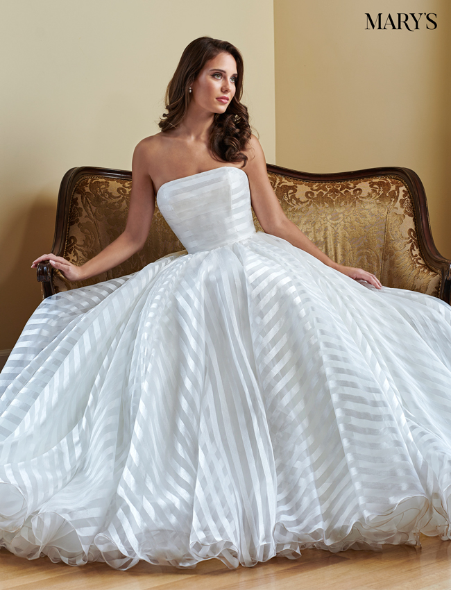 Ivory Color Bridal Wedding Dresses - Style - MB3064