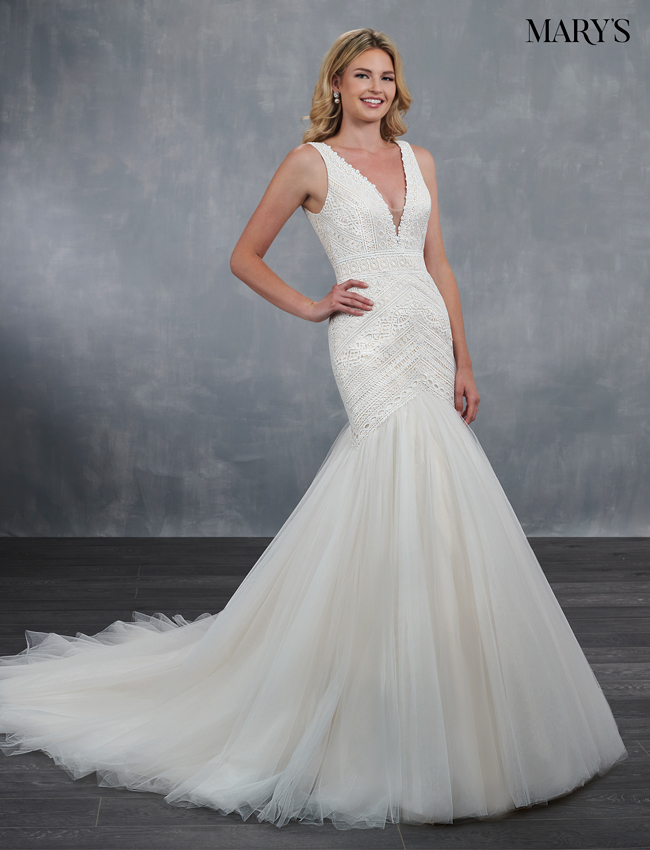 Champagne Color Bridal Wedding Dresses - Style - MB3067