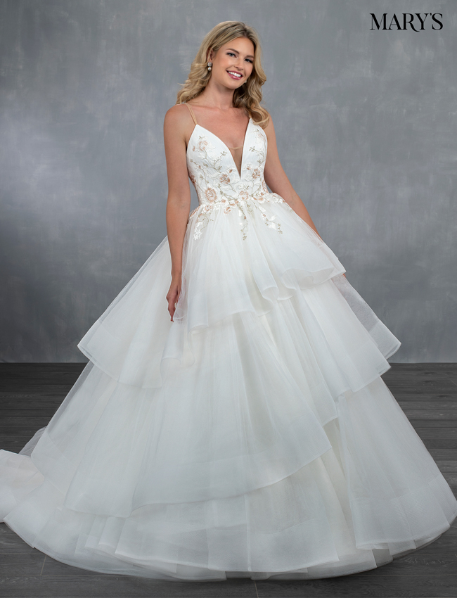 Ivory Color Bridal Wedding Dresses - Style - MB3070