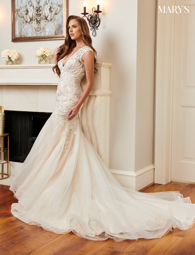Champagne Color Florencia Bridal Dresses - Style - MB3099