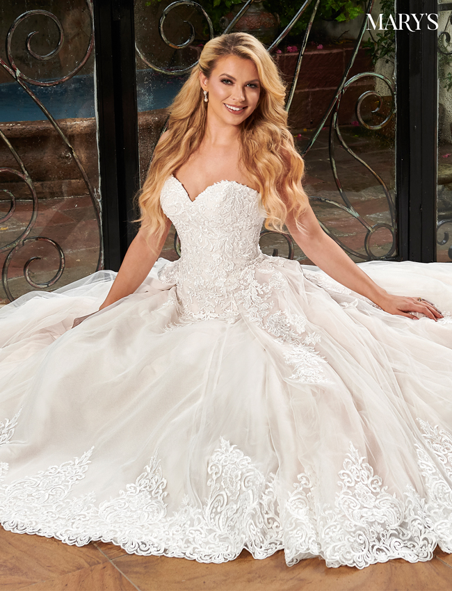 Blush Color Florencia Bridal Dresses - Style - MB3106