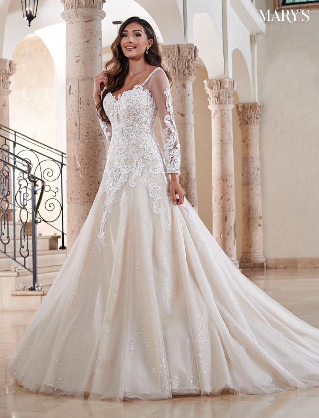 Champagne Color Florencia Bridal Dresses - Style - MB3121