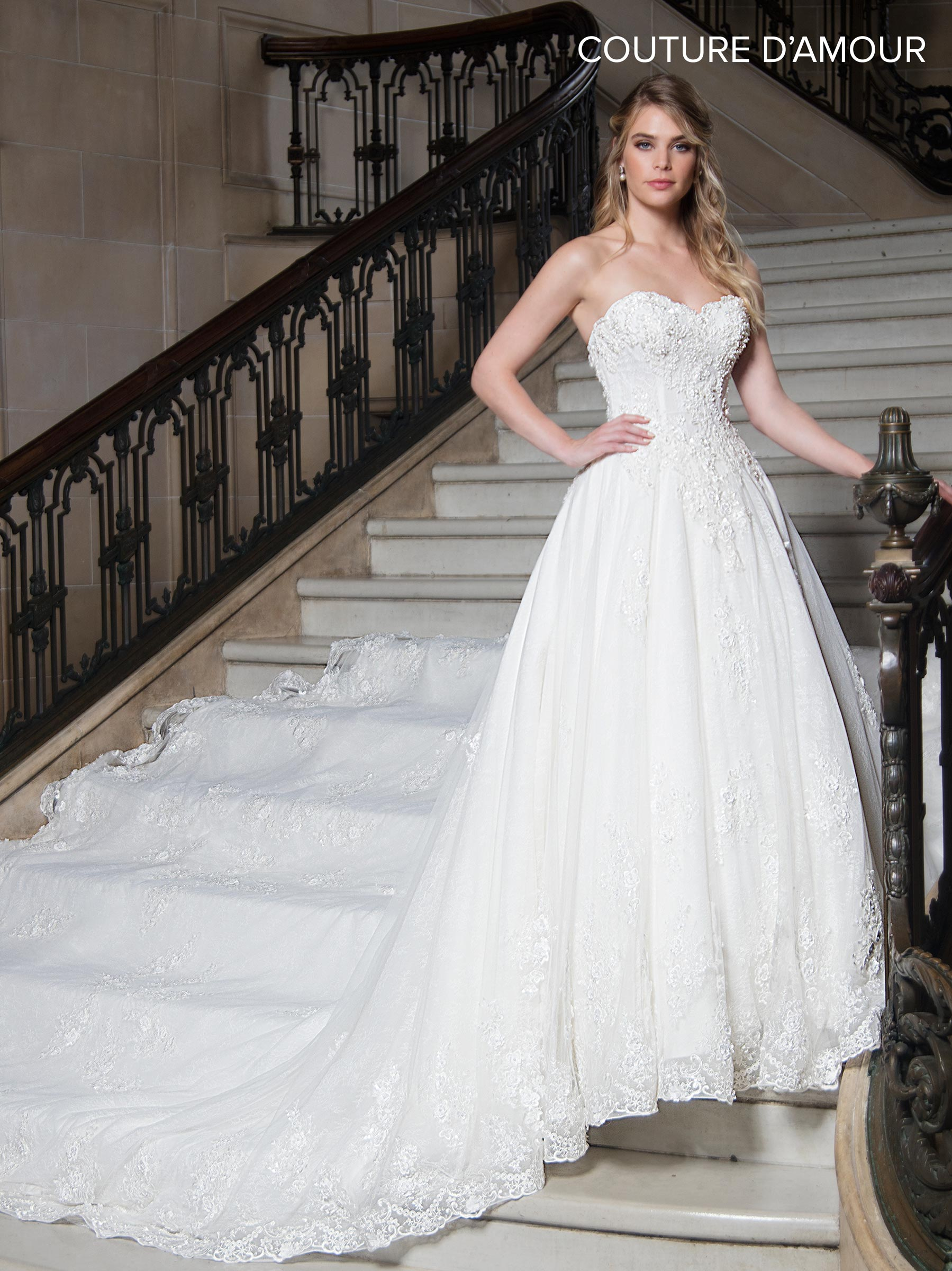 Couture Damour Bridal Dresses | Style - MB4020 in Ivory or White Color