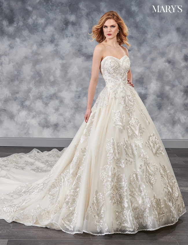 Champagne Color Couture Damour Bridal Dresses - Style - MB4039