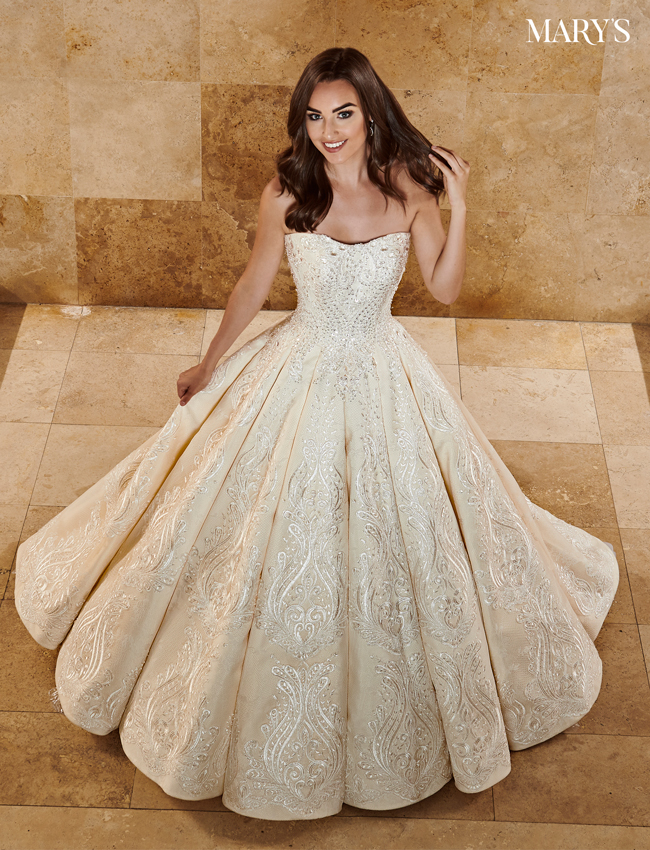 Champagne Color Couture Damour Bridal Dresses - Style - MB4076