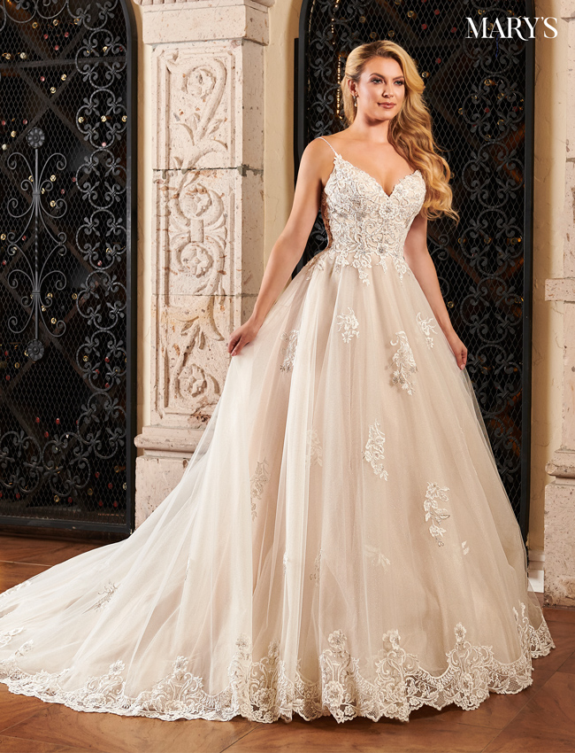 Champagne Color Couture Damour Bridal Dresses - Style - MB4080