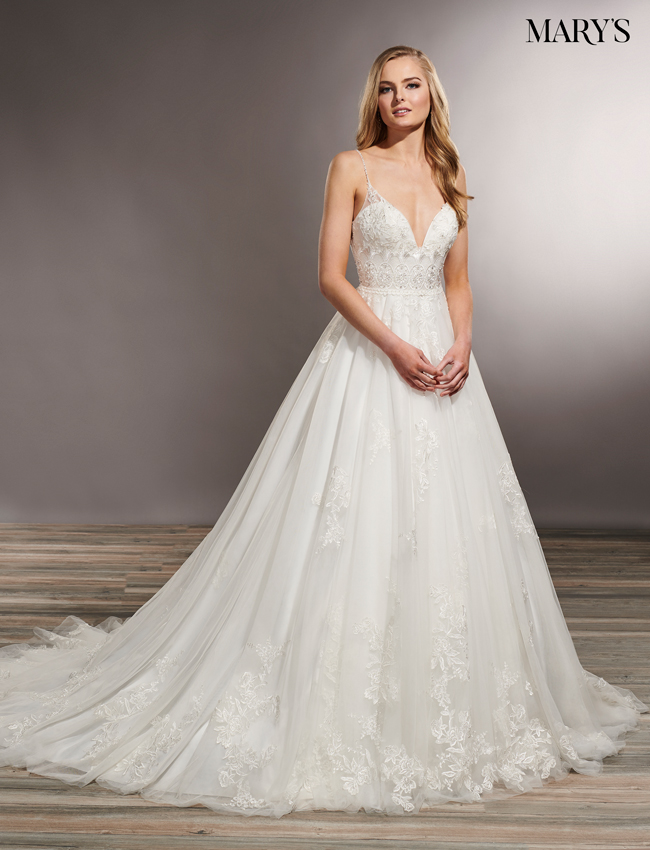 Ivory Color Wedding Dresses - Style - MB5018