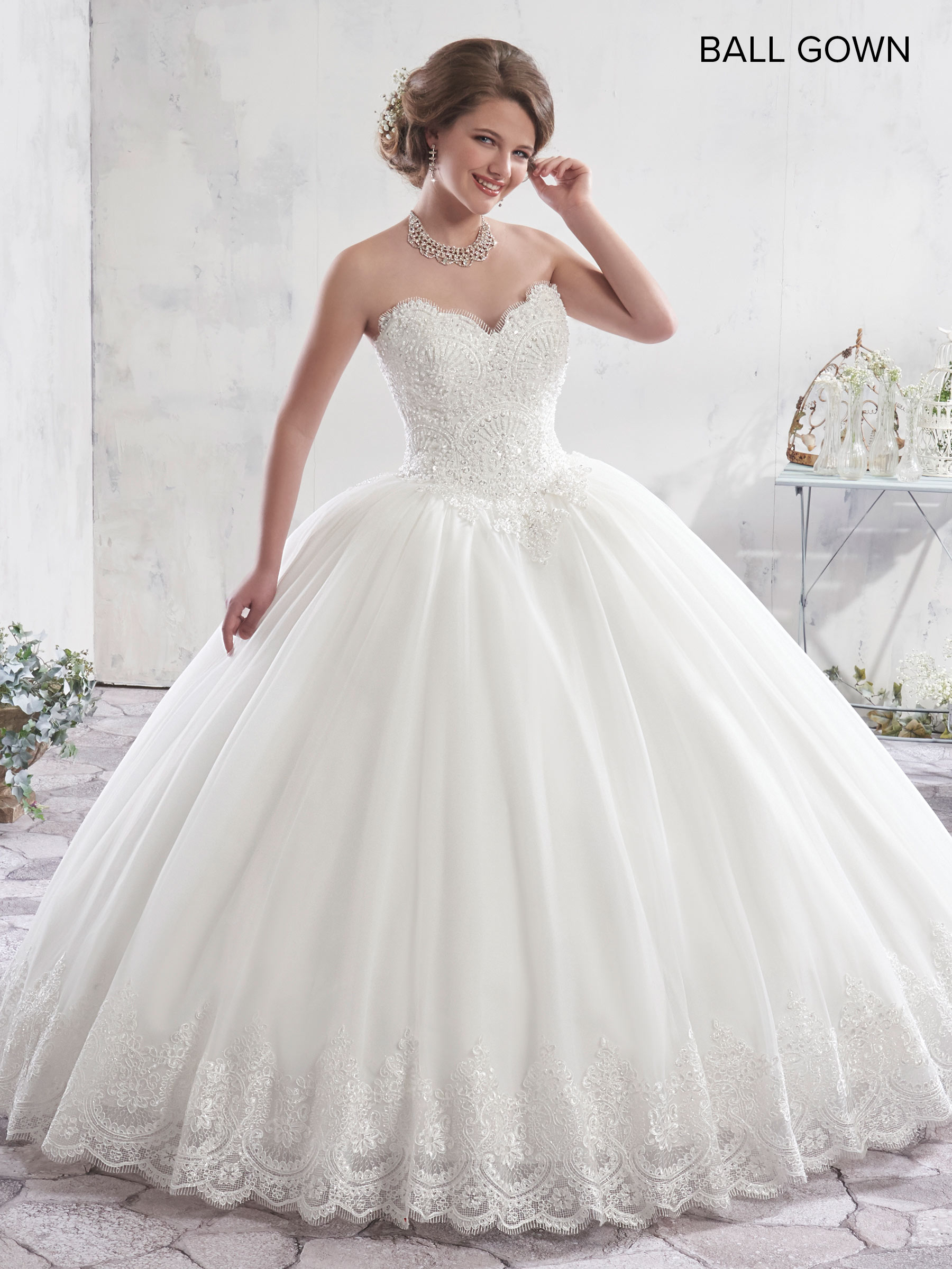 Bridal Ball Gowns | Style - MB6012 in Ivory or White Color