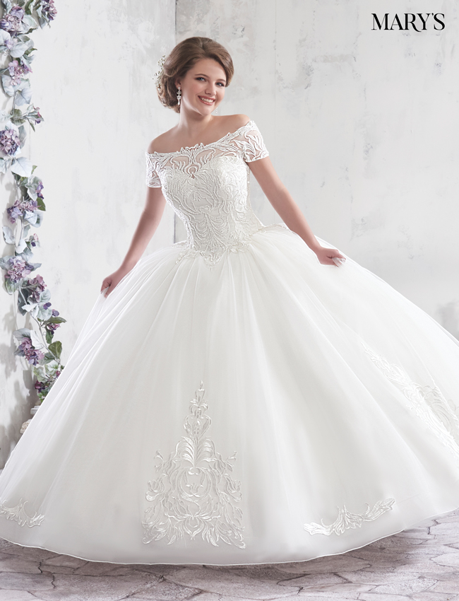 Color Bridal Ball Gowns - Style - MB6017