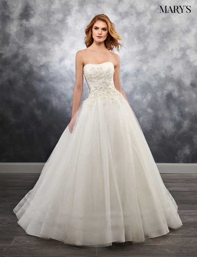 Ivory Color Bridal Ball Gowns - Style - MB6020